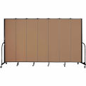 "Screenflex 7 Panel Portable Room Divider, 7'4""H x 13'1""L, Fabric Color: Beech"