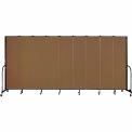 "Screenflex 9 Panel Portable Room Divider, 7'4""H x 16'9""L, Fabric Color: Walnut"