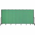 "Screenflex 9 Panel Portable Room Divider, 7'4""H x 16'9""L, Fabric Color: Sea Green"