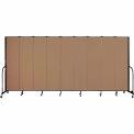 "Screenflex 9 Panel Portable Room Divider, 7'4""H x 16'9""L, Fabric Color: Beech"