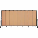 "Screenflex 9 Panel Portable Room Divider, 7'4""H x 16'9""L, Fabric Color: Wheat"