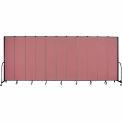 """Screenflex 11 Panel Portable Room Divider, 8'H x 20'5""""L, Fabric Color: Mauve"""