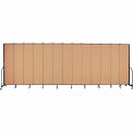 "Screenflex 13 Panel Portable Room Divider, 8'H x 24'1""L, Fabric Color: Desert"