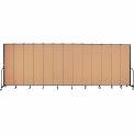 "Screenflex 13 Panel Portable Room Divider, 8'H x 24'1""L, Fabric Color: Desert"