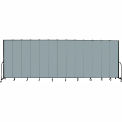 "Screenflex 13 Panel Portable Room Divider, 8'H x 24'1""L, Fabric Color: Grey Stone"