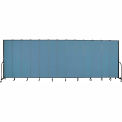 "Screenflex 13 Panel Portable Room Divider, 8'H x 24'1""L, Fabric Color: Blue"