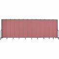"""Screenflex 13 Panel Portable Room Divider, 8'H x 24'1""""L, Fabric Color: Mauve"""