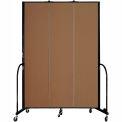 "Screenflex 3 Panel Portable Room Divider, 8'H x 5'9""L, Fabric Color: Oatmeal"