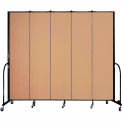 "Screenflex 5 Panel Portable Room Divider, 8'H x 9'5""L, Fabric Color: Desert"