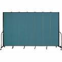 "Screenflex 7 Panel Portable Room Divider, 8'H x 13'1""L, Fabric Color: Lake"