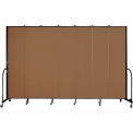 "Screenflex 7 Panel Portable Room Divider, 8'H x 13'1""L, Fabric Color: Walnut"