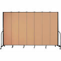 "Screenflex 7 Panel Portable Room Divider, 8'H x 13'1""L, Fabric Color: Desert"