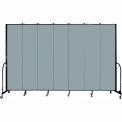 "Screenflex 7 Panel Portable Room Divider, 8'H x 13'1""L, Fabric Color: Grey Stone"