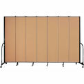 "Screenflex 7 Panel Portable Room Divider, 8'H x 13'1""L, Fabric Color: Sand"