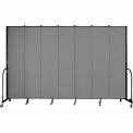 "Screenflex 7 Panel Portable Room Divider, 8'H x 13'1""L, Fabric Color: Grey"