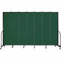 "Screenflex 7 Panel Portable Room Divider, 8'H x 13'1""L, Fabric Color: Green"