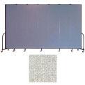 "Screenflex 7 Panel Portable Room Divider, 8'H x 13'1""L, Vinyl Color: Granite"