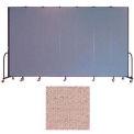 "Screenflex 7 Panel Portable Room Divider, 8'H x 13'1""L, Vinyl Color: Raspberry Mist"