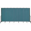 "Screenflex 9 Panel Portable Room Divider, 8'H x 16'9""L, Fabric Color: Lake"