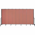 "Screenflex 9 Panel Portable Room Divider, 8'H x 16'9""L, Fabric Color: Cranberry"