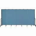 "Screenflex 9 Panel Portable Room Divider, 8'H x 16'9""L, Fabric Color: Blue"