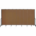 "Screenflex 9 Panel Portable Room Divider, 8'H x 16'9""L, Fabric Color: Oatmeal"