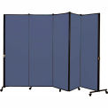 Healthflex Portable Medical Privacy Screen, 5-Panel, Vinyl Blue Tide