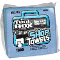 Sellars® Toolbox® T800 Blue Shop Towels 1/4 Fold, 30 Sheets/Bundle, 16 Bundles/Case 88150