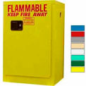 Securall® 12-Gallon, Manual Close, Flammable Cabinet Yellow