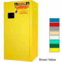 Securall® 16-Gallon, Manual Close, Flammable Cabinet Md Green
