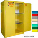 Securall® 90-Gallon, Manual Door, Flammable Cabinet Md Green