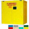 Securall® 36x24x37 30-Gallon, Self-Close Flammable Cabinet Yellow