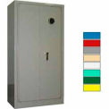 Securall® Radius 10 Gun Cabinet, Digital Lock, Carpet Lined Shelf Gray