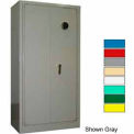 Securall® Radius High Security Cabinet, Digital Lock Ag Green