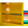 "Securall® Extra Shelf for Lab Cabinets 59"" Wide Yellow"