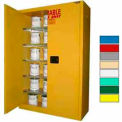 Securall® 60-Gallon, Self-Close,Paint/Ink Cabinet Yellow