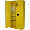 Securall® 36x18x72 Flammable Spill Containment Cabinet Yellow