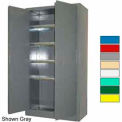 Securall® High Security Cabinet, Digital Lock, Carpet-Lined Shelves, Yellow