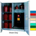 Securall® 115-Gallon, Manual Close,Vertical Flammable Drum Cabinet Md Green