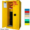 Securall® 60-Gallon, Self Close, Haz Waste Drum Storage Cabinet Ag Green