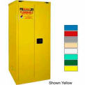 Securall® 120-Gallon, Sliding Door, Haz Waste Drum Storage Cabinet Blue