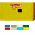 Securall® 18-Gallon Manual Close, Stackable Flammable Cabinet Yellow