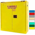 Securall® 24-Gallon Self-Close, Wall-Mounted Flammable Cabinet Yellow