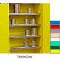 """Securall® Extra Shelf for 43""""Wx12""""D Wall Mounted Cabinet Ag Green"""