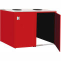 "Double Recycle Cabinet - 60""W x 27-3/4""D x 39-15/32""H (Carmine Red)"
