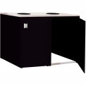 "Double Recycle Cabinet - 60""W x 27-3/4""D x 39-15/32""H (Gloss Black)"