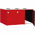 "Triple Recycle Cabinet - 90""W x 27-3/4""D x 39-15/32""H (Carmine Red)"