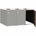 "Triple Recycle Cabinet - 90""W x 27-3/4""D x 39-15/32""H (Sebring Gray)"