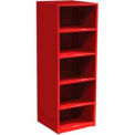 "SPS 5 Shelf Cabinet-29 1/4""W x 27 3/4""D x 75""H-Carmine Red"