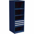 "SPS 3 Drawer, 4 Shelf Cabinet-29 1/4""W x 27 3/4""D x 75""H-St. Louis Blue"